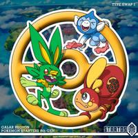 Pokemon Starters 8th Gen - TYPE SWAP I by STRATOS-WRF