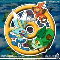 Pokemon Starters 8th Gen - TYPE SWAP II by STRATOS-WRF