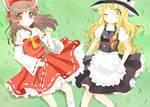 Reimu and Marisa