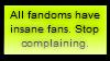 Insane Fans and Fandoms Stamp by superstarblazenova