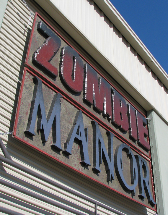 Zombie Manor Sign1 by joeadonis