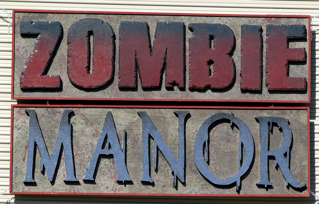 Zombie Manor Sign2 by joeadonis