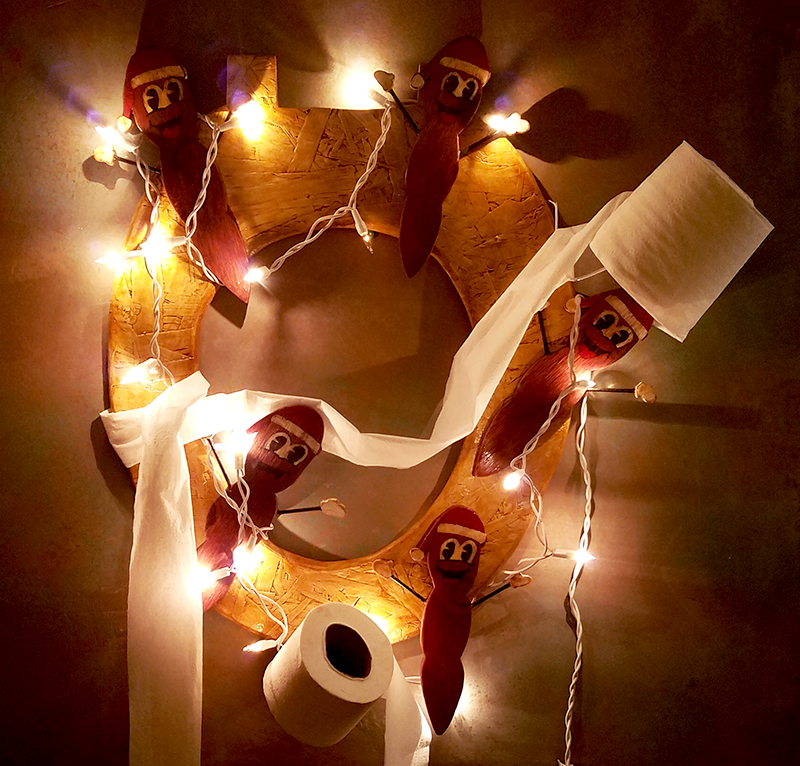 Mr. Hanky Wreath by joeadonis