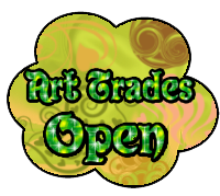 Art trades open button by StrawberryCakeBunny