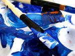 blue shades mix