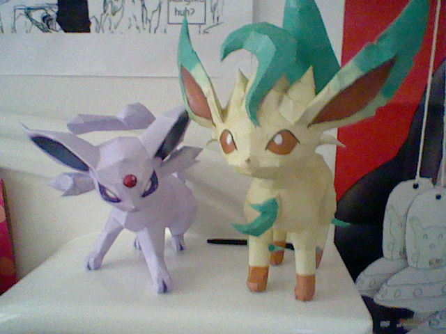 Espeon and Leafeon Together by PrincessStacie