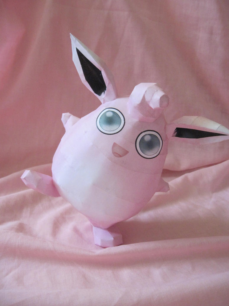 Wigglytuff Papercraft by PrincessStacie