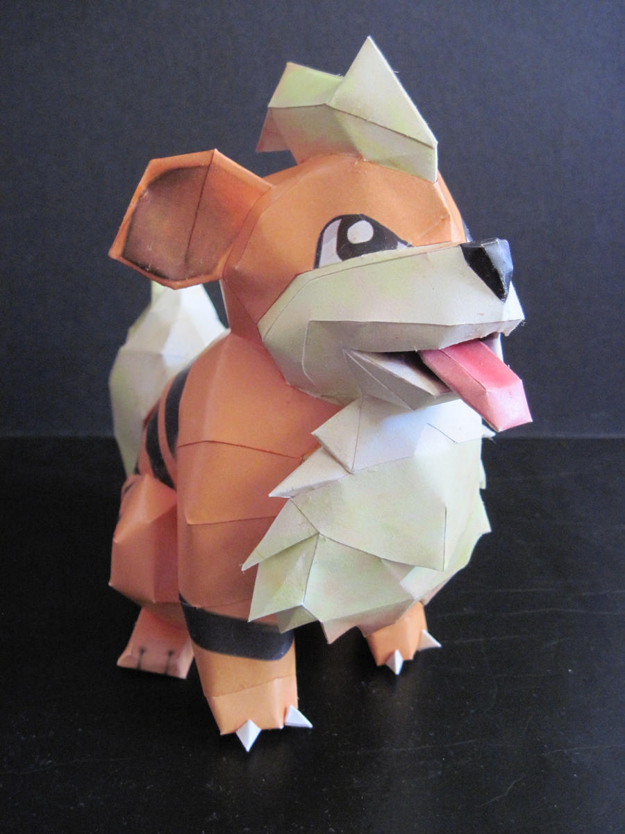 Growlithe Papercraft by PrincessStacie