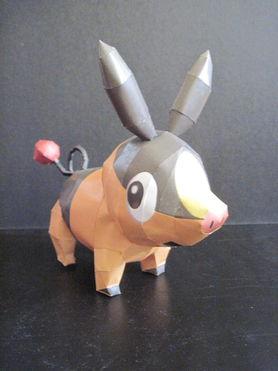 Tepig Papercraft by PrincessStacie