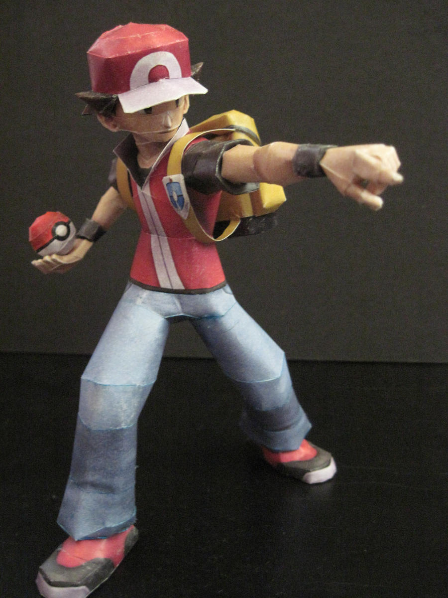 Pokemon Trainer Papercraft by PrincessStacie