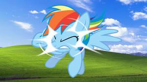 Windows Pony Wallpaper Rainbow Dash Only