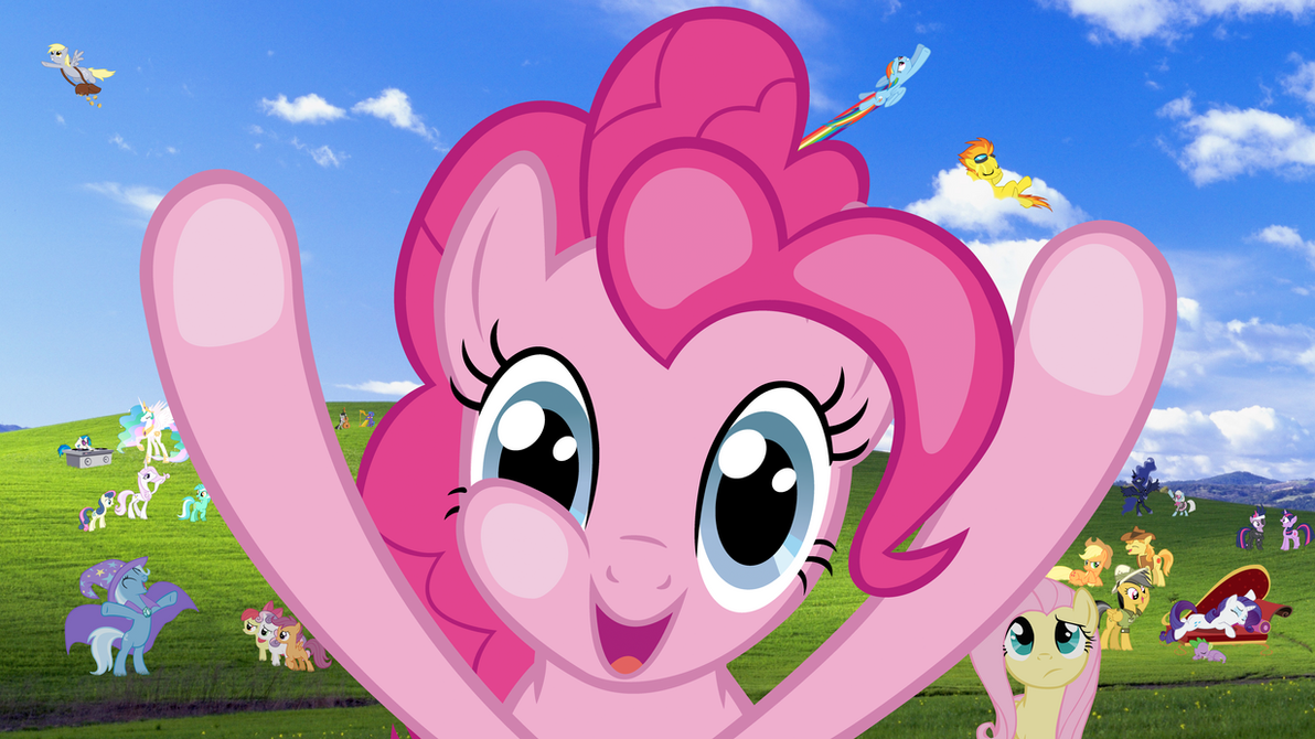 Windows Pony Wallpaper Pinkie Pie Version By RealBoser