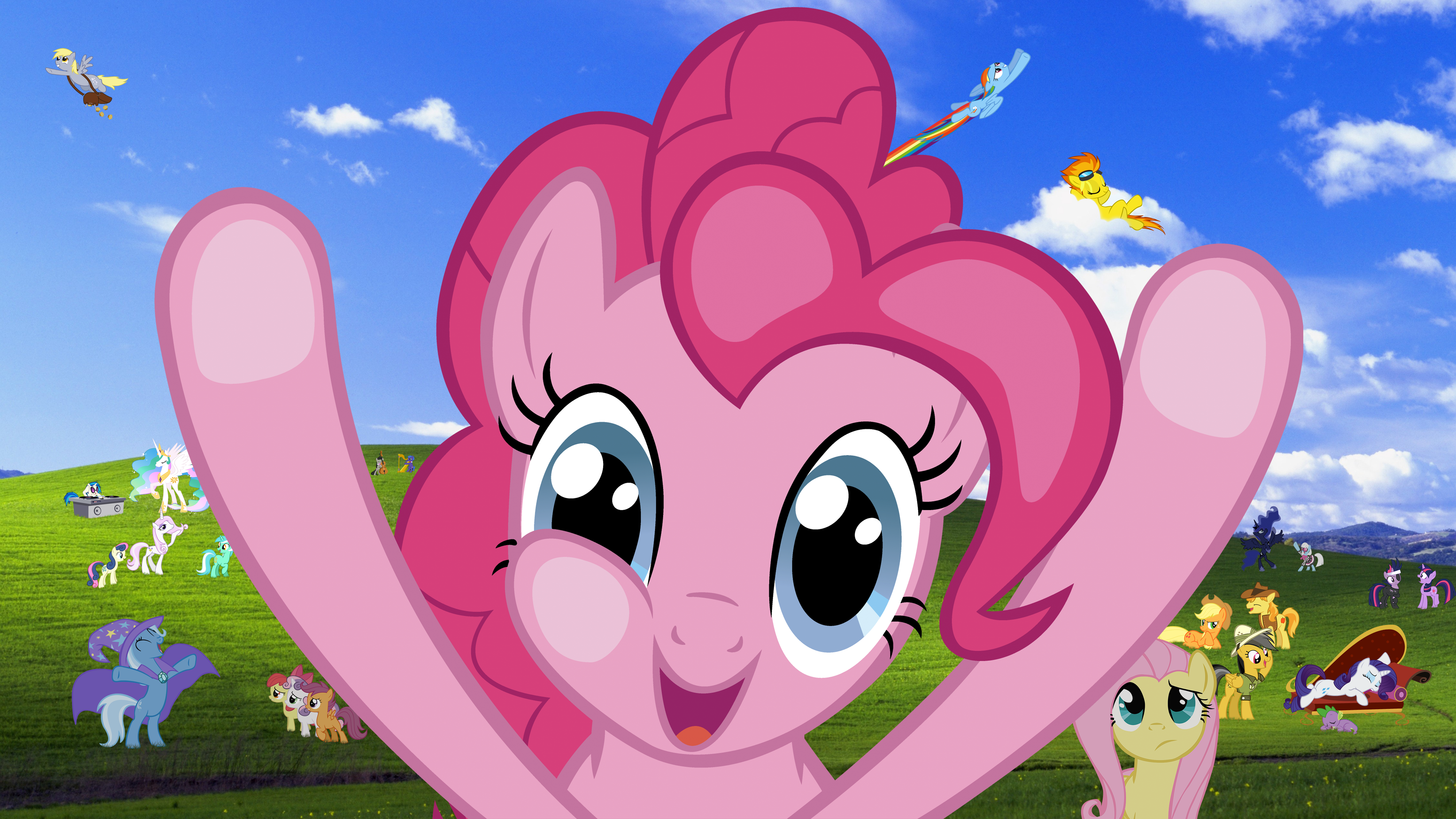 Windows Pony Wallpaper Pinkie Pie Version By Realboser On Deviantart
