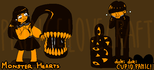 [DDCP] monster heart sprites/concept art by oujiguro