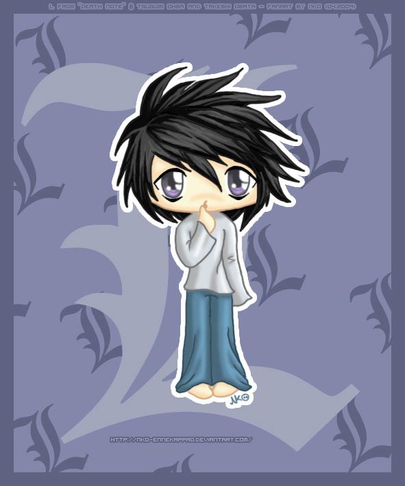 Death Note - Chibi L by Nko-ennekappao on DeviantArt