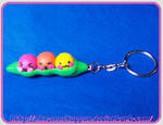 Emoticon Peas keychain by Nko-ennekappao