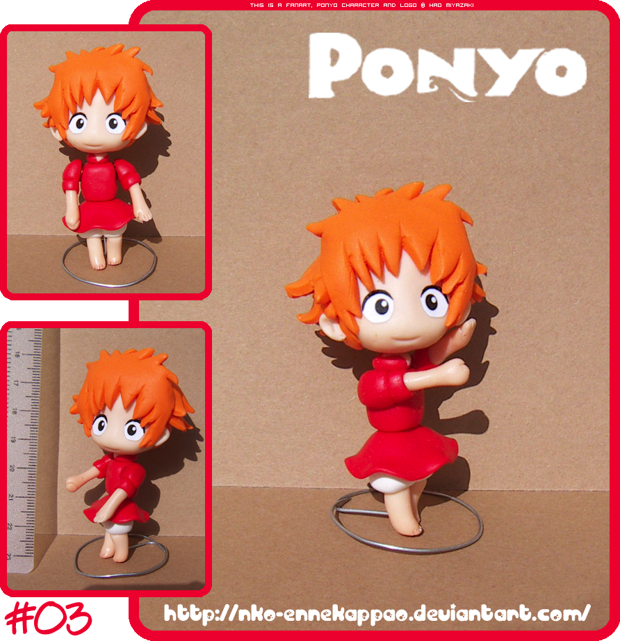 Chibi Ponyo posable figure by Nko-ennekappao