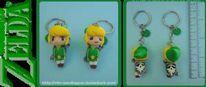 The Legend of Zelda - Chibi Link keychains