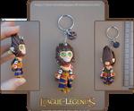 League of Legends - Wukong keychain by Nko-ennekappao