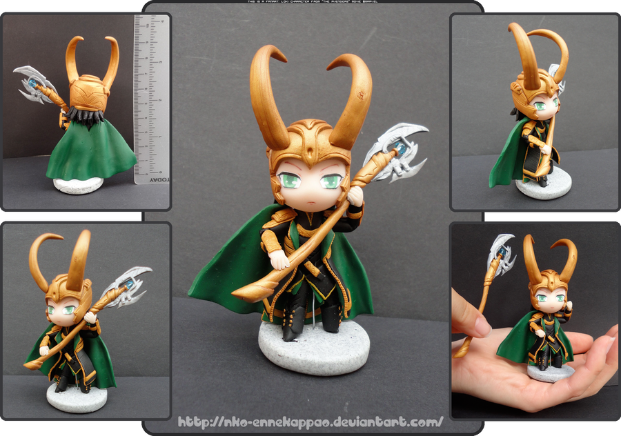 The Avengers - Chibi Loki figurine by Nko-ennekappao