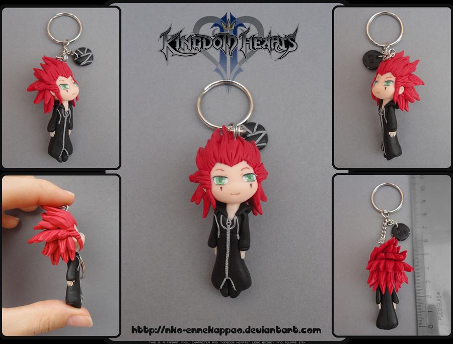 Kingdom Hearts - Chibi Axel keychain by Nko-ennekappao