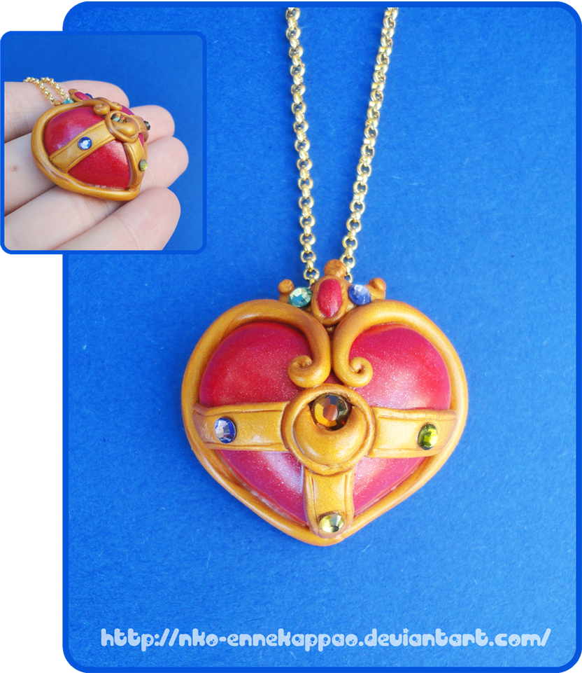 Sailor Moon Cosmic Heart pendant by Nko-ennekappao