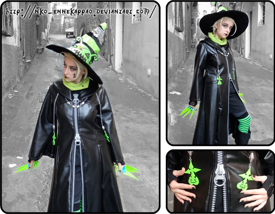 Halloween Town Larxene cosplay by Nko-ennekappao