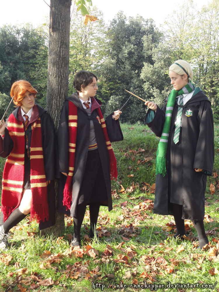 Genderbent Harry, Ron and Draco cosplay by Nko-ennekappao on ...
