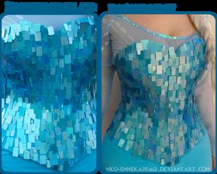 Frozen Cosplay: Elsa's corset by Nko-ennekappao