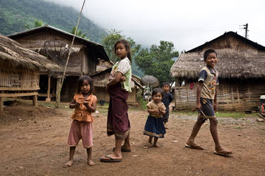 Laos Village Life XV by emrerende