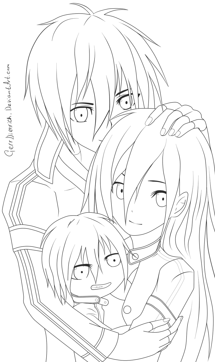 Kirito Lineart : Kirito lineart by gerrdietrich on deviantart