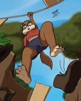 Hanging chipmunk by Orgunis