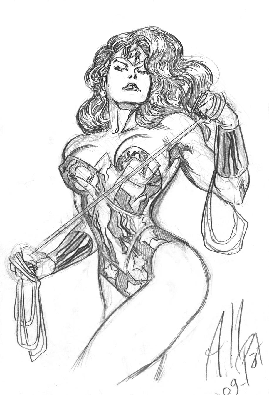 Wonder Woman Sketch by AllPat