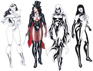 DC girls Sketch 02