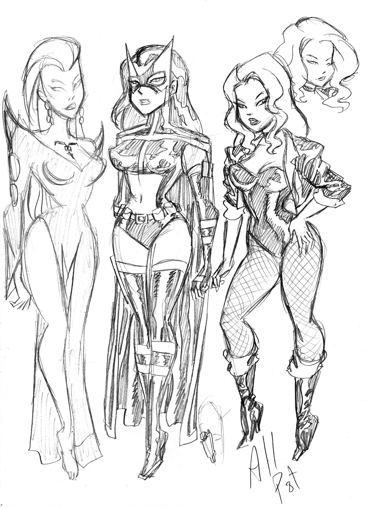 Bruce Timm DC gals by AllPat