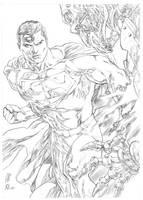 Superman vs Metallo by AllPat