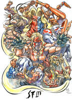 Street Fighter 3 after Neal d Anderson color by AllPat