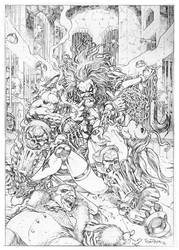Lobo and Harley by AllPat