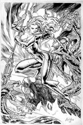 The strength of Queen Mera-Inks by AllPat