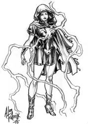 Mary Marvel Sketch by AllPat