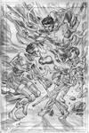 Silhouette vs Captain Marvel Jr. by AllPat