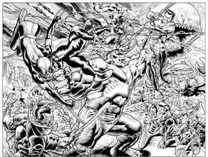 Hulk Vs Namor Inks