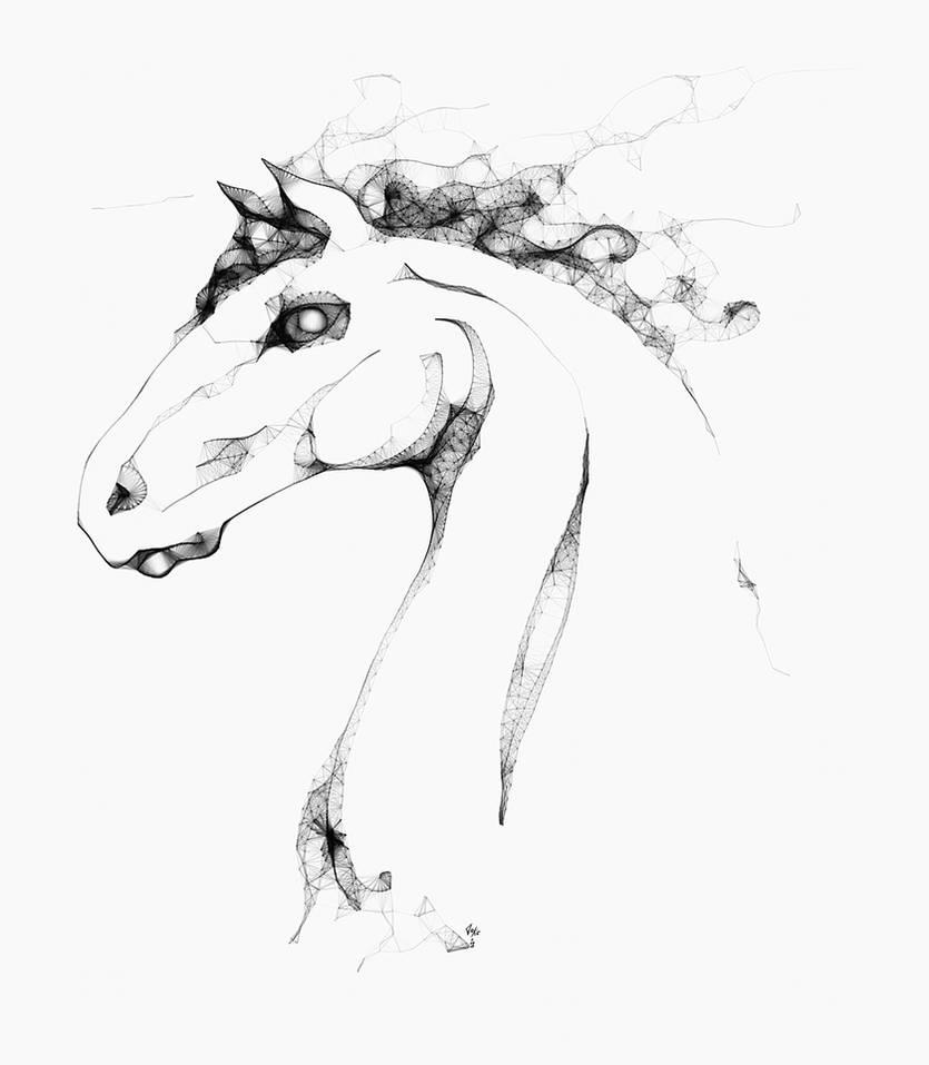 Stone Horse Head