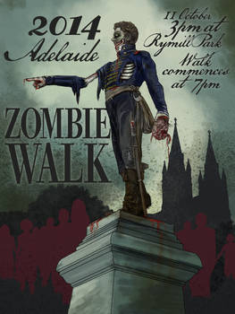 Adelaide Zombie Walk Poster