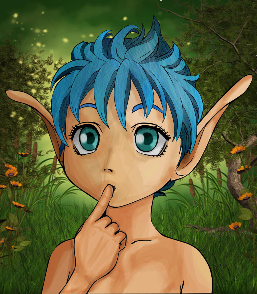 Puck the fairy elf by KibaPandaRo