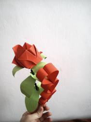 Origami Rose by KibaPandaRo
