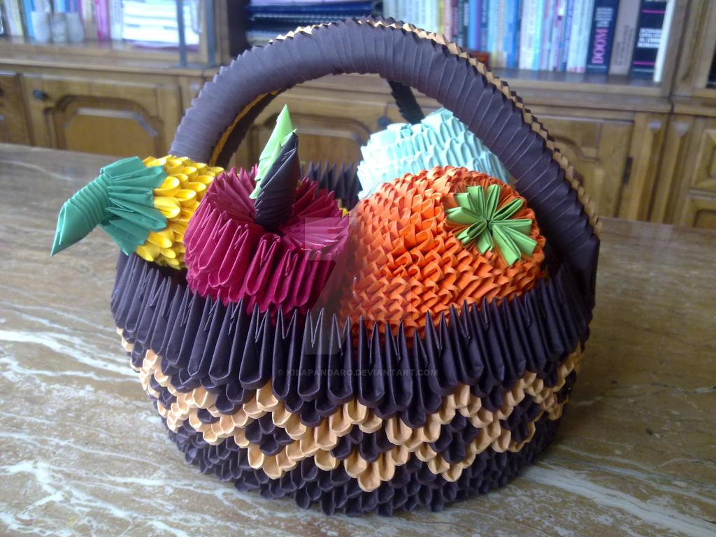 Fruit Basket Art Ideas : Origami fruit basket by kibapandaro on deviantart