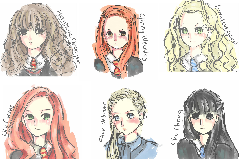 Harry Potter Slytherin Girls [Quick doodle] ...
