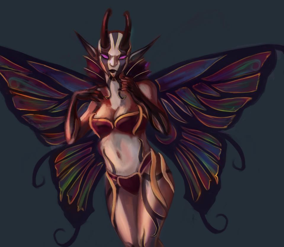 luna moth vexie by skyph