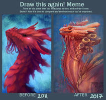 Draw this coral dragon again by Neboveria